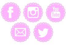 Botones Para Redes Sociales / Diseños que hice para que los pudieran descargar y utilizar http://elmundodmilu.blogspot.com/2015/06/botones-para-redes-sociales.html?m=1