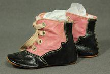 antikke klær og sko