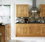Oak cabinets