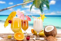 Happy Hour! / It's always 5:00 at the beach!  Let these tasty tropical libations wet your appetite...