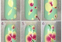цветы и нейларт