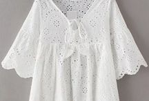 white broidery dress