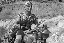 MOTORCYCLE  Vintage photos / Black and White photos of Motorcycles in historic context / by R.Bruce Germond