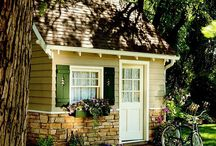 Her dream yards / backyards, dream spaces, tree houses, cottages