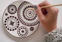 To paint dishes