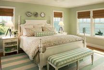 Green Bedrooms / beach decor idea