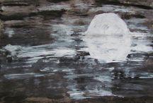 Kunst am Ende der Treppe / meine Kunst (Malerei) mit Freunden und Interessenten zu teilen
