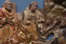 Hans Clocker (1500 ca.): Natività / Hans Clocker (1500 ca.): Natività. Arte sudtirolese. Friburgo, museo degli agostiniani, foto gennaio 2013