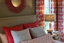 Interiors with red/orange