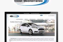 Diseño Web Ford Vedat Mediterráneo / Desarrollo del diseño de la nueva página web del concesionario Ford en Valencia Vedat Mediterráneo.