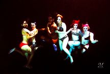 Lollie bombs 2015 underwater. / Love my ladies at the Lollie Bombs burlesque.