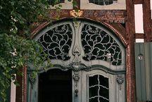 Doors and wreaths