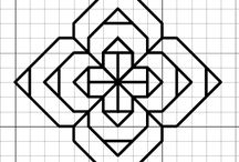 desenhos em papel quadriculado