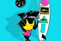 Wyatt's Neon Surfer Party