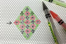 Graph paper for beading plan