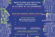 Les Portes (ou)Vertes du Quartier Latin / Première grande mobilisation de la jeunesse pour la COP21 I Du 30 mai au 8 juin I Festival 5e et 6e arrondissements de Paris