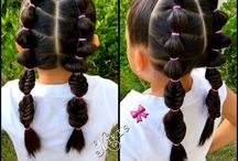 Kids easy holiday/travel hair styles