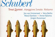Trout Quintet CD and vinyl artwork: Radio 3's Spirit of Schubert season / Inspired by Radio 3's Genius of Schubert season I've put together some of the many ways designers have put together sleeves for the Trout Quintet LPs and CDs. Not all of them feature fish.