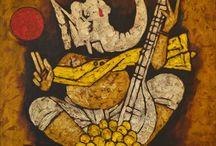 Hussain painting