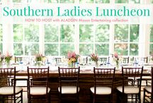 Southern Ladies Luncheon with #AladdinMason / Images, Tips, Recipes and Instructions on how to create a simple and special Ladies' Luncheon