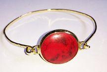Gold plated Bangles / Gold plated bangles & natural stones