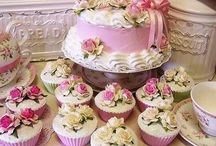 taart en cupcakes