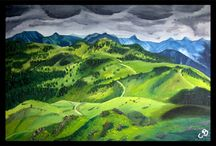 Landscape artworks / A collection of all my landscape paintings (Oil on Canvas)