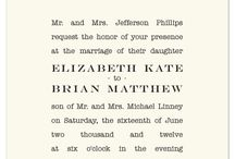 Design \\ Wedding Stationary / Wedding Save the Dates, Invites, RSVPs, and Thank you ideas. / by Kristin H