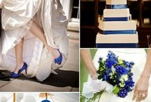 bruiloft blauwe aankleding