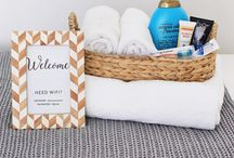 Guest welcome baskets