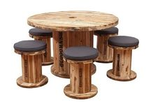 Wooden Cable Reel Furniture