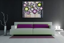 Festett vászonképek - absztrakt virágok / Hangulatos otthonok modern kiegészítőkkel www.ovardesign.hu