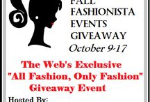 Fall Fashionista '14 Giveaway Event (October 9-17) / #FashionistaEvents October 9-17 THE largest Fashion Giveaway Event on the Internet. Be sure to stop in and enter all 120+ blogs and for $26,000+ in prizes. Grand Prize Sponsor $500 PayPal, 1st Place Sponsor $300 Midnight Velvet Gift Certificate @ShopMV / by Still Blonde after all these YEARS
