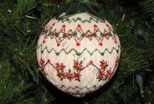 Smocked Christmas Ornaments