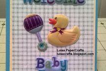 Baby Shower / Nacimiento / Manualidades en papel prara Baby Shower y llegada del Bebe