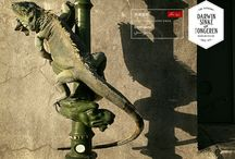 Green Iguana / From the Collection: La vie dans l'Eden Flamboyantly designed by Dutch Artists Sinke & van Tongeren