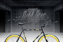 Patriot Gold 60Streets Daiquiri Limited Edition Fixed Gear Single Speed Fixie Bike / 60Streets Daiquiri Limited Edition Patriot Gold Fixed Gear Single Speed Fixie Bike Bicycle Urban