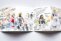 Drawing faces and portraits (sketching and painting too) / Drawing or painting faces in pen, watercolour, pencil and other media. Sketching portraits.