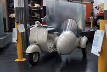Vespa @Piaggio Museum / Inaugurated on the 29th March 2000, the Piaggio Museum occupies 3,000 sq. m. of what used to be the company toolshop in one of the oldest buildings in Pontedera. It is an example of the harmonious conversion of an industrial area for cultural purposes.