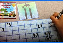 Place Value -  Base Ten Blocks / Math lessons, activities, and centers for teaching place values with base ten blocks for prek, kindergarten, first grade, and second grade classrooms.