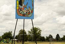 Art in the Parks / Art on easels in Goodland's city parks.