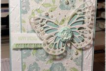Cards--Butterflies--Dye Cut