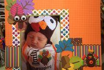 1st Thanksgiving / Doodlebug scrapbook layout / by Debra Busse