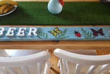 beer garden pallet