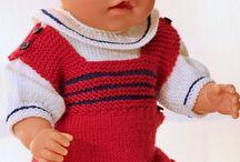 Puppenkleidung Handgestrickt
