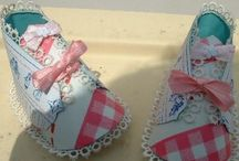 paper craft / mini baby shoes