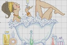 Cross Stitch-Bathroom