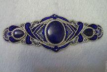 Lapis lazuli beadwork designs