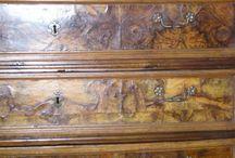 canterano / immagini di un interventi di restauro su un mobile in pessime condizioni del XVIII secolo.