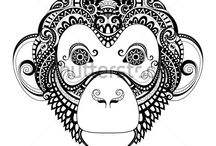 mexican tattoo monkey
